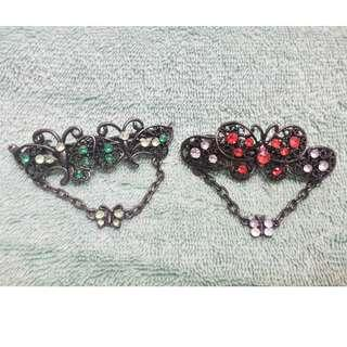 Metal Butterfly Hair Clips