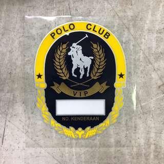 Polo Club VIP car sticker