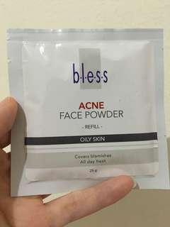 bless reffil acne face powder (shade natural)