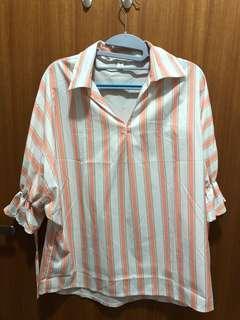 🚚 [M&M] Stripe Blouse