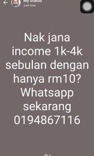Jana income 4k sebulan