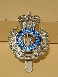 前朝人民入境事務處帽章 Immigration Cap Badge