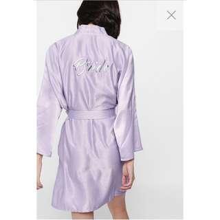🚚 Love Bonito Renessa Bride Embroidered Robe