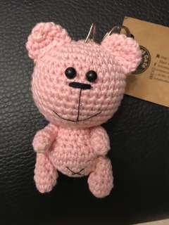 crochet pink teddy bear