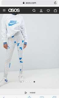 Nike Archive Exclusive To Asos Grey Graphic Print Leggings Size S