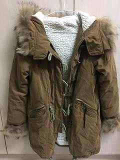 內裏全刷毛駝色大衣外套