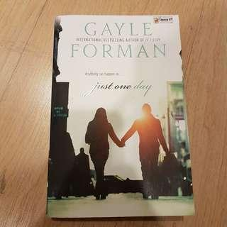 Novel Just One Day by Gayle Forman - English