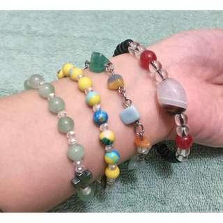 Assorted Rosary bead bracelets