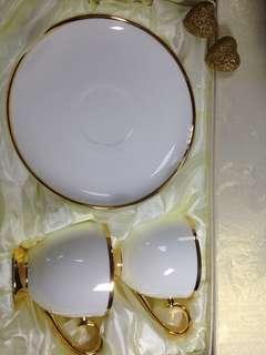 🚚 Royal Duke 白瓷咖啡杯盤組