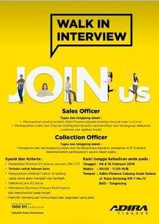 SALES OFFICER, COLLECTION OFFICER