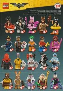 Lego batman mini figurines series 1