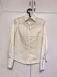White semi fitted formal shirt