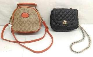 Coach and Chanel sling bag