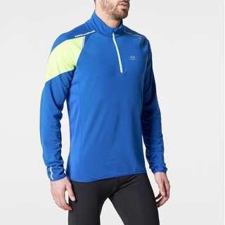 高階保暖拉鍊式跑步長袖T恤KALENJI Kiprun男裝女裝 輕盈 公路跑T恤 反光夜跑