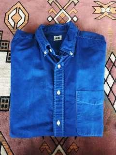 Uniqlo oxford natural indigo shirt