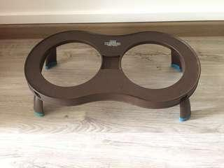 Cesar Millan Double Bowl Collapsible Stand