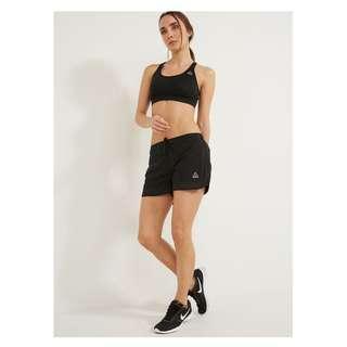 🚚 [全新] Reebok 全新 黑色 含襯褲 鬆緊帶 綁帶 運動 休閒 短褲 運動褲 運動短褲 BK4966