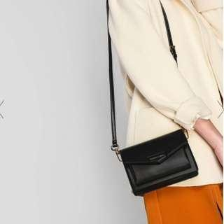 Charles and Keith Envelope Crossbody Satchel Bag