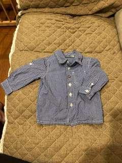 🚚 Mexx格子襯衫6-9個月