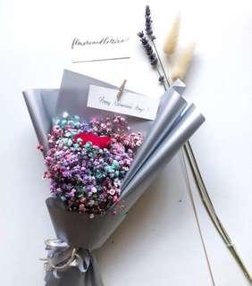 Valentine's day fresh flower bouquet hand bouquet red rose / pink rose / gerbera / baby's breath