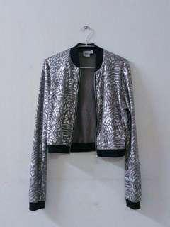 Asos Silver Patterned Crop Jacket #MFEB20