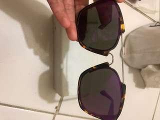 Dior abstract sunglasses purple