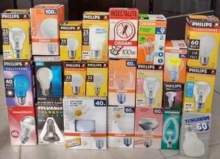 Assorted light bulbs lightbulbs