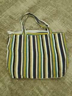 Fabric Colorful Striped Bag