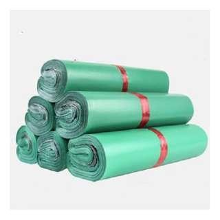 🚚 100pcs - Polymailer (Green Colour Mailer 17cm by 30cm)