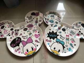 日本 Disney Store Donald & Daisy Duck 膠碟一對