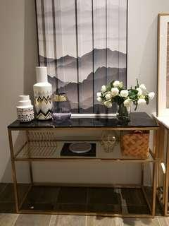 Mirage Black Marble Console Table