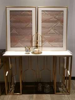 Cooper Geometric Marble Console Table