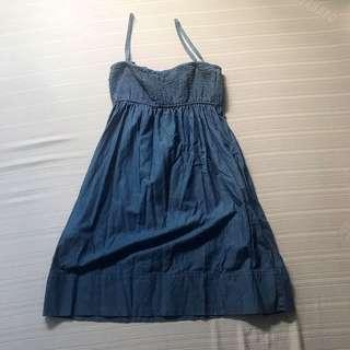 DENIM MANGO SLEEVELESS DRESS FITS S -M