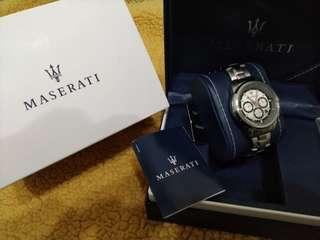 🚚 MASERATI 全新 瑪莎拉蒂  三眼計時腕錶 44mm