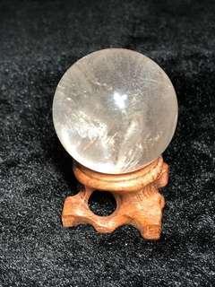 天然白水晶球🔮(43mm)