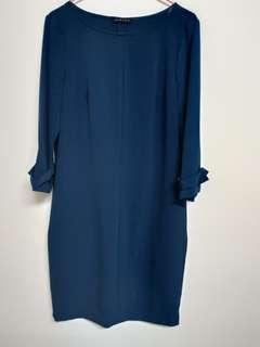 🚚 專櫃正貨SISLEY 質感寶藍色連身洋裝