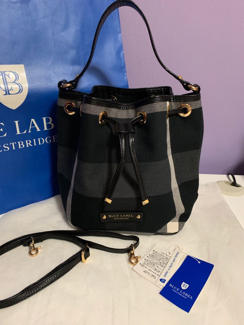 0f9960affbd7 Pending ] Burberry Blue Label Crestbridge Bucket Bag, Luxury, Bags ...