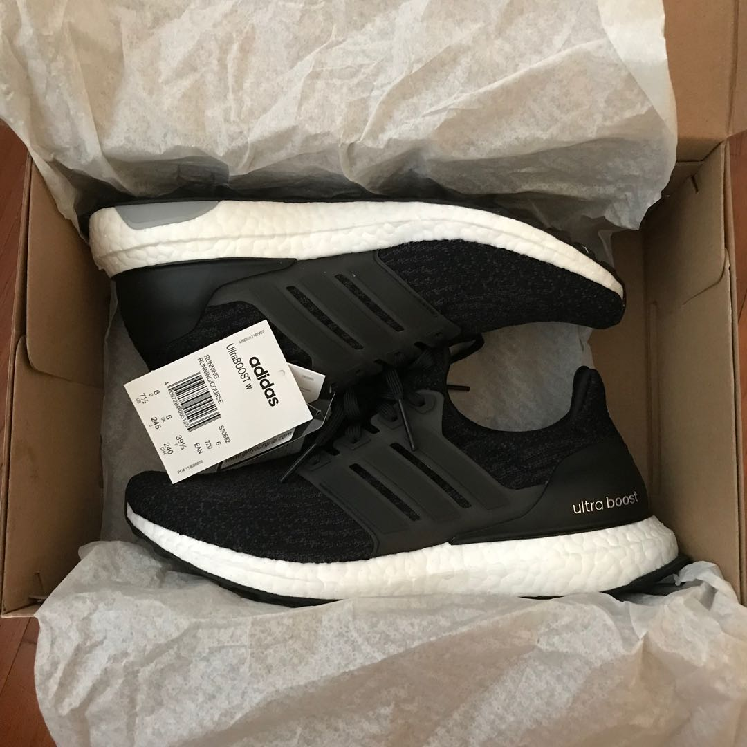 bf77676a3c9 🆕 uk6 adidas coreblack ultraboost shoes
