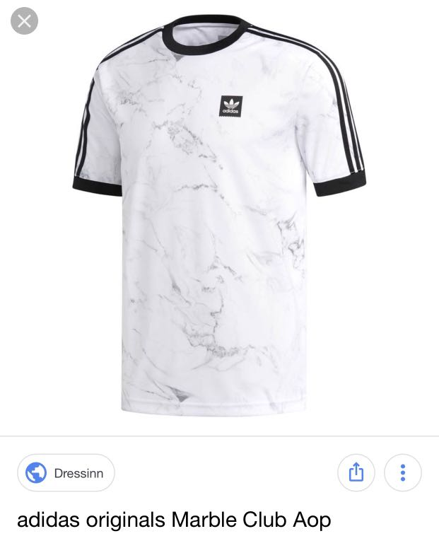 425cab29 Adidas original marble shirt, Men's Fashion, Clothes, Tops on Carousell