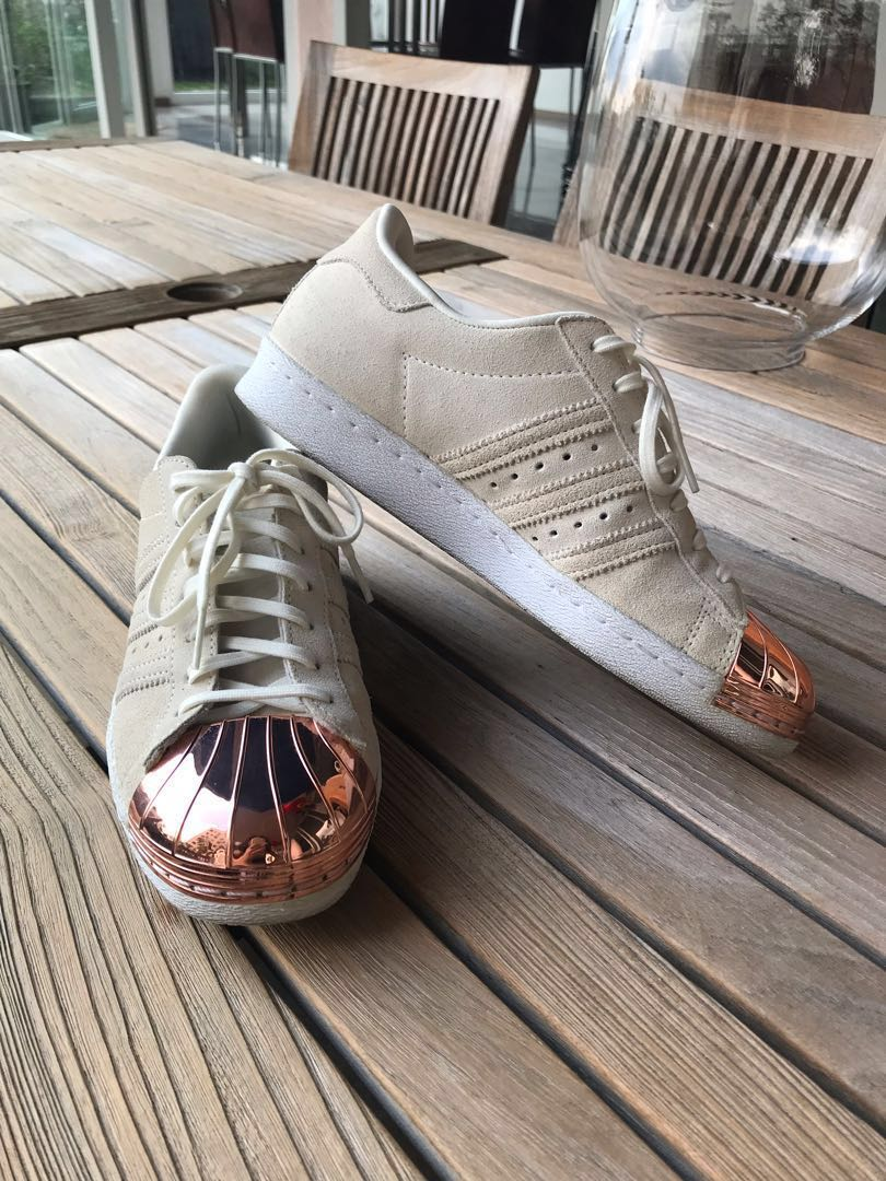 lowest price f7fe2 e278c Adidas Superstar 80s Metal Toe Sneakers in Rosegold, Women's ...