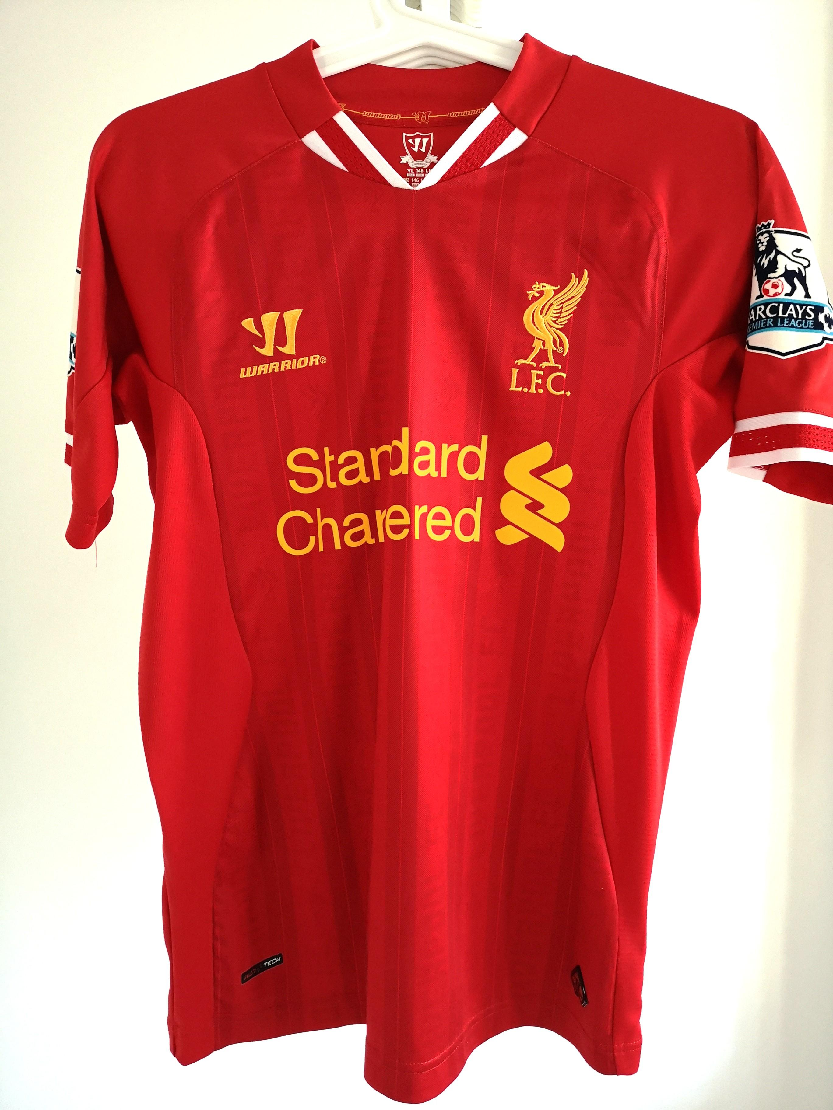newest collection a59c1 fc39e Authentic Liverpool Jersey Youth Large Gerrard 8 named (Very ...