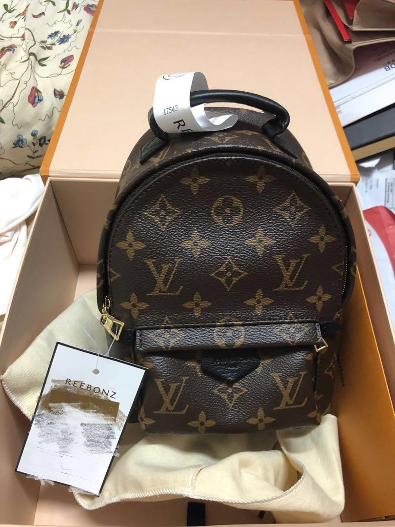 c52457ea89c3 Authentic Louis Vuitton Palm Springs Mini Backpack