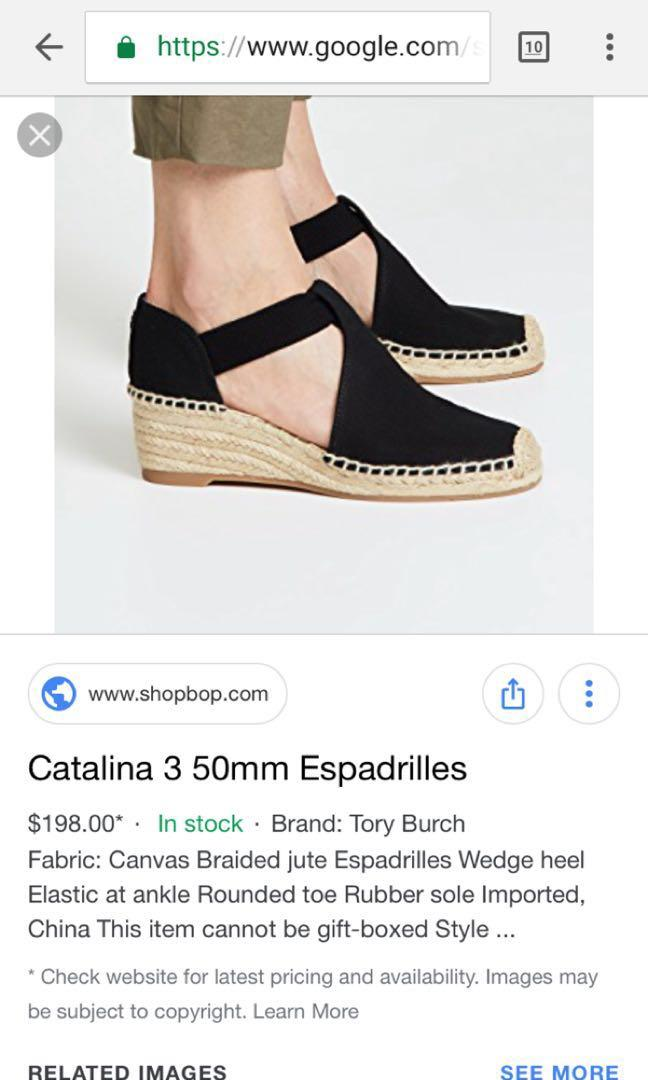 10c4f17b721 Authentic tory burch espadrille wedge sandals on Carousell