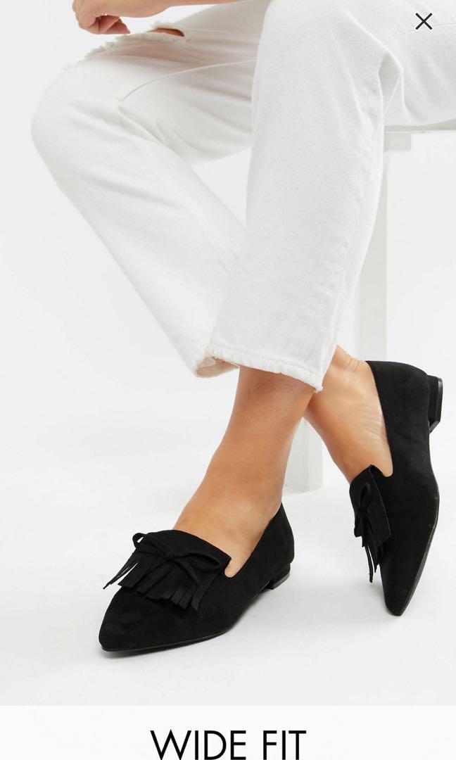 35f8656a8c8 BN ASOS black ballet loafers