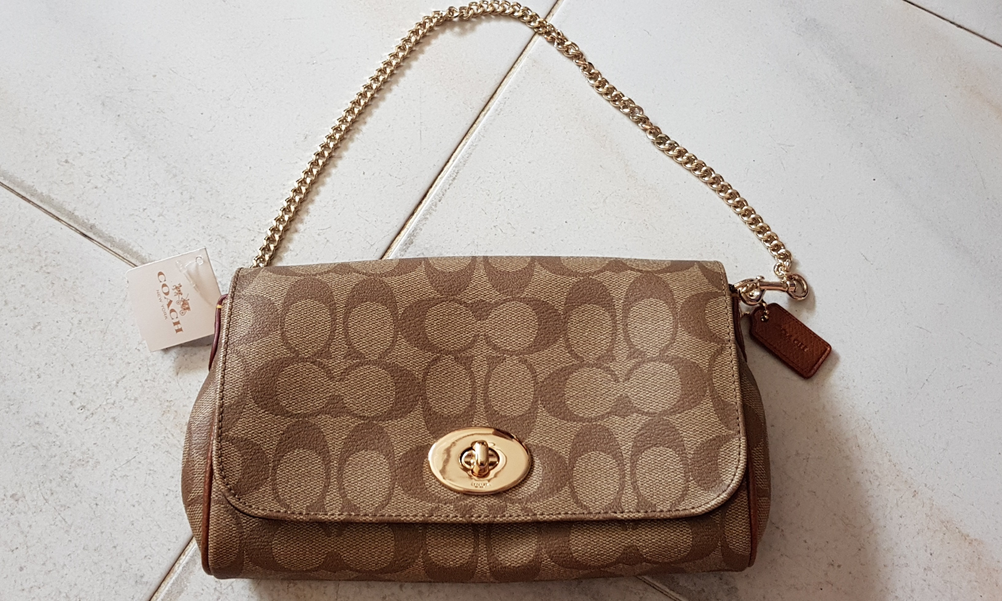 6fad316bf5a42 [BNWT] Coach Mini Ruby Crossbody In Signature Canvas Brown, Women's  Fashion, Bags & Wallets, Sling Bags on Carousell