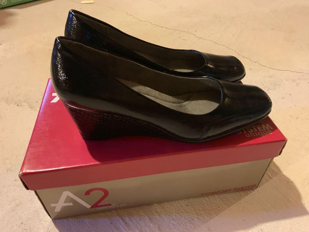 Brand new with box black wedge A2 Aerosoles. Size 7