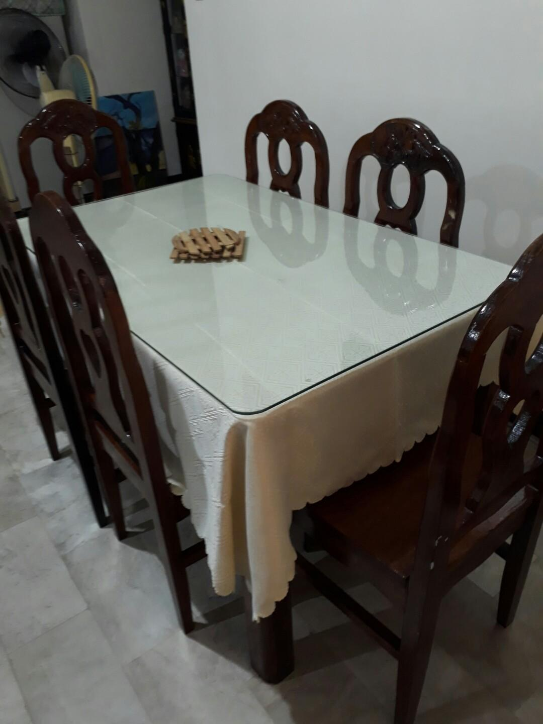 Bundle Sale Dining Set Table Chairs Wine Rack Home Furniture On Carousell