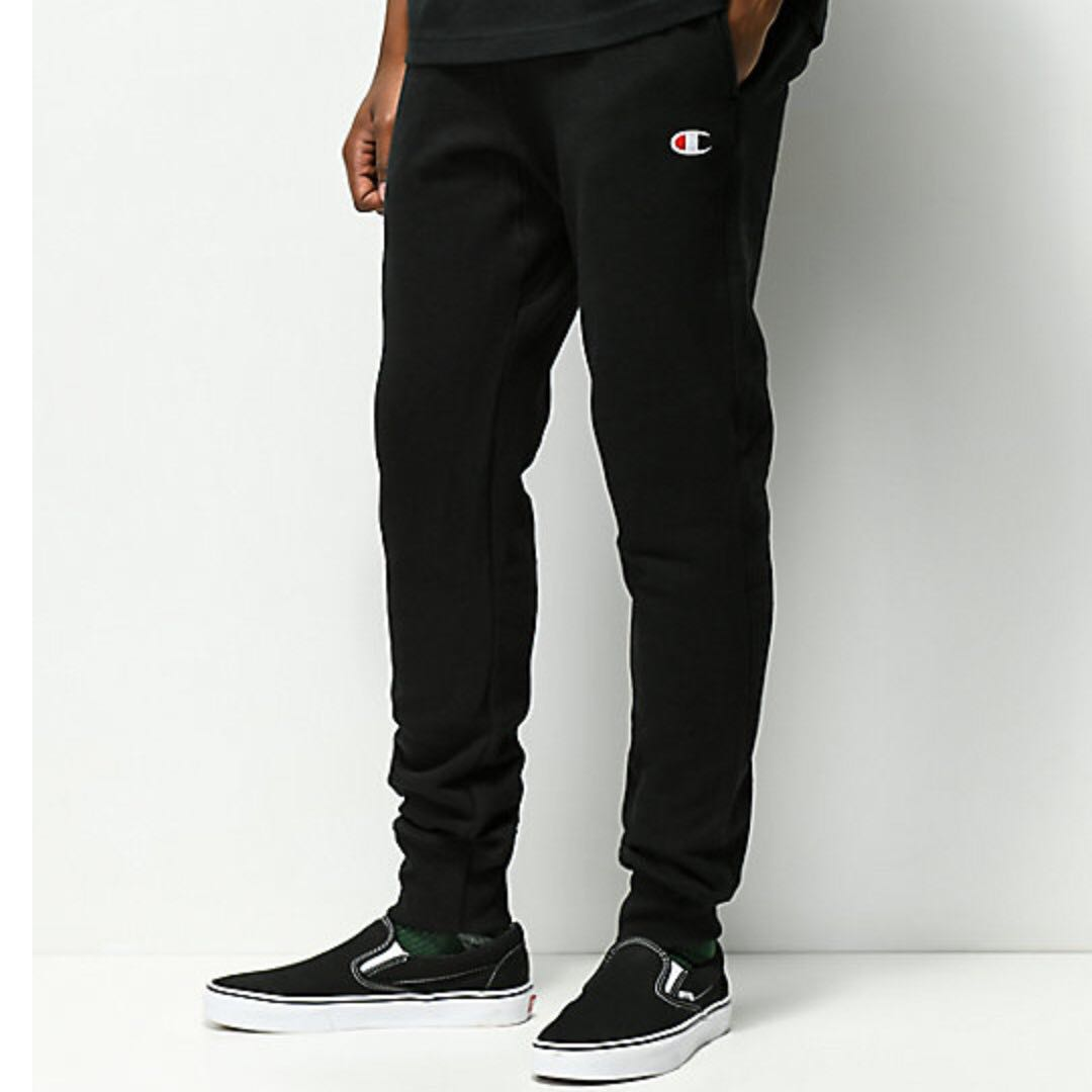 2fb5349fc Champion Reverse Weave Black Joggers Pants