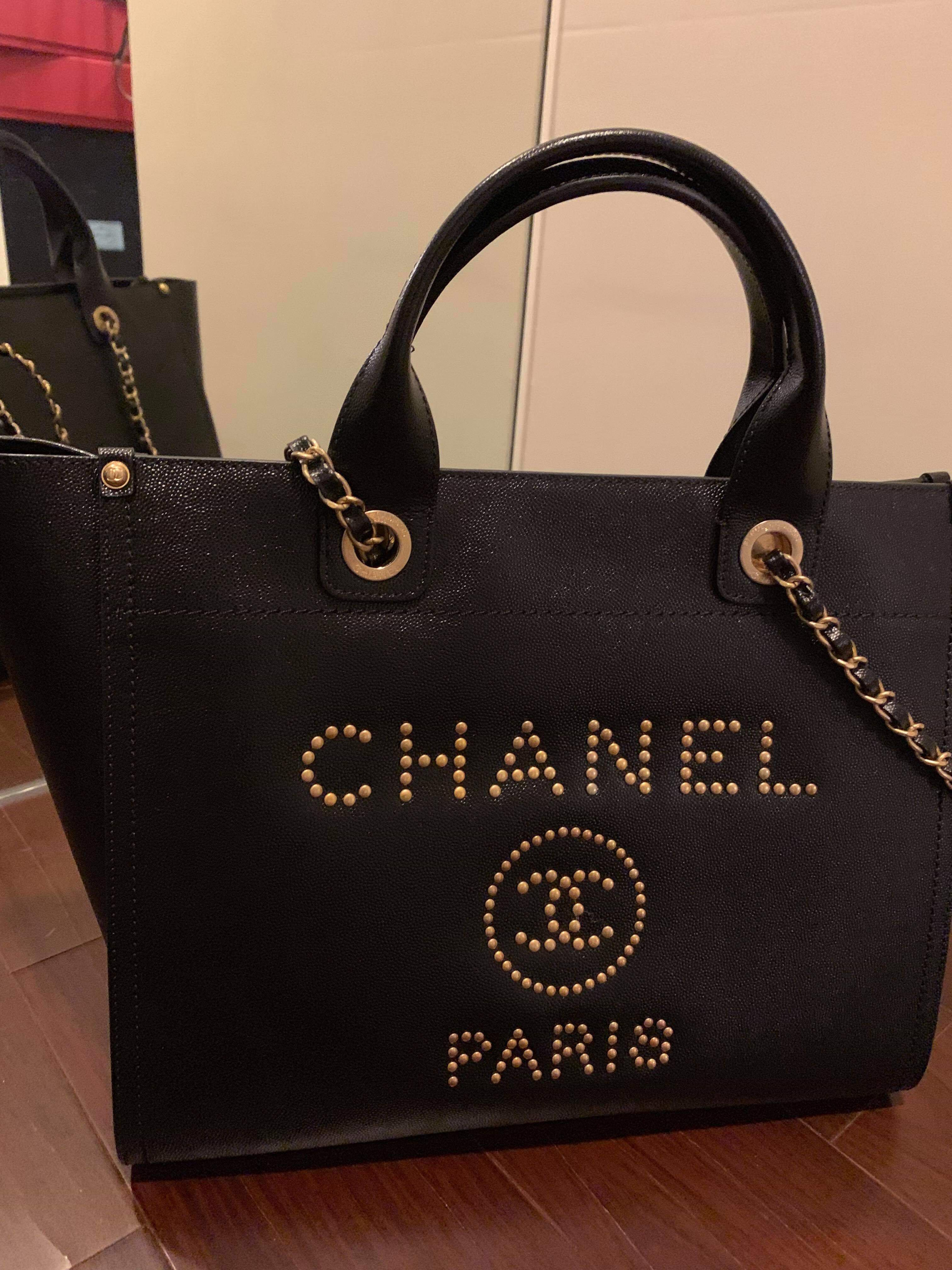 510cf37cf37a Chanel Deauville Tote Bag, Women's Fashion, Bags & Wallets, Handbags on  Carousell