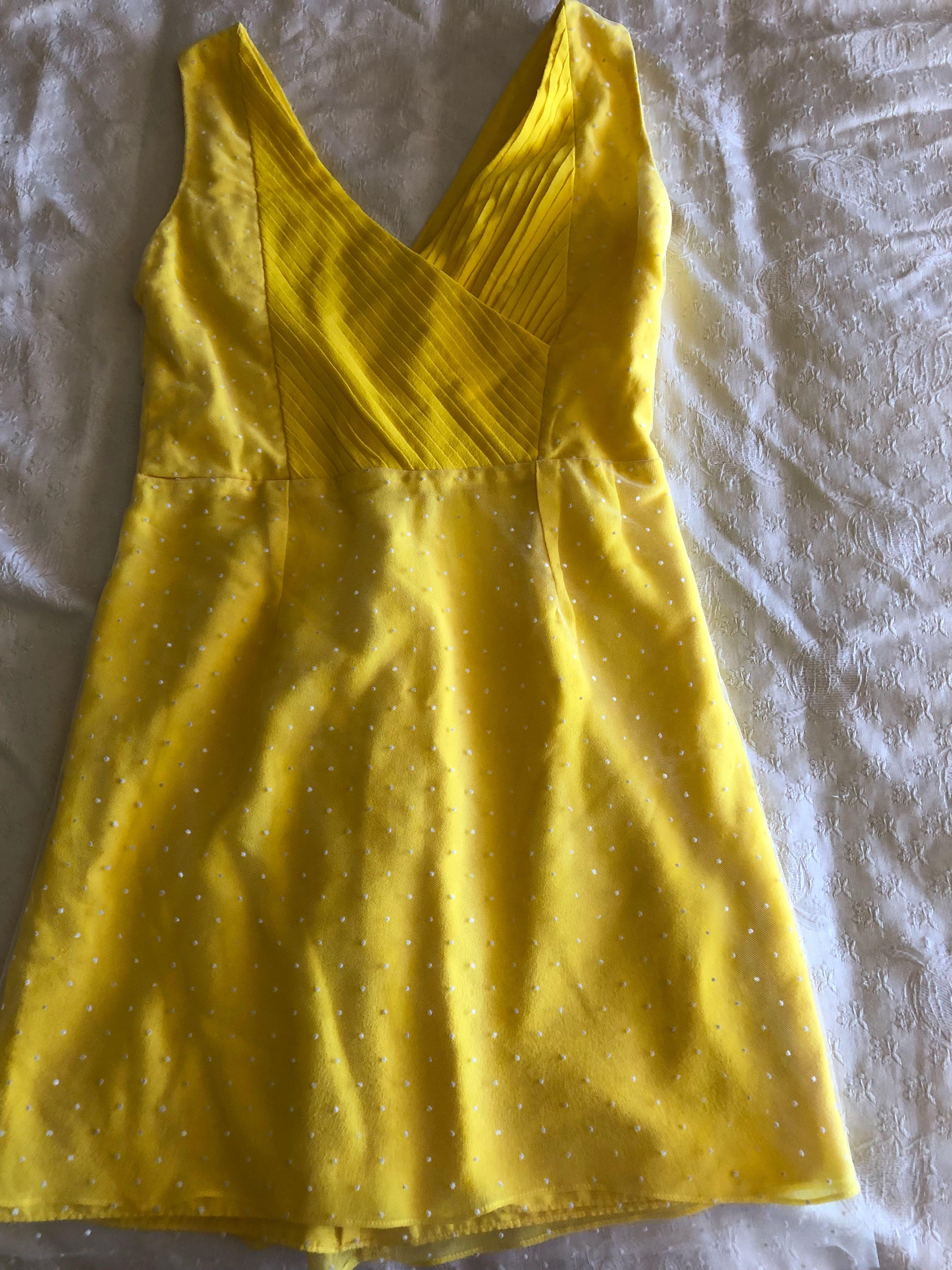 Custom made yellow dress